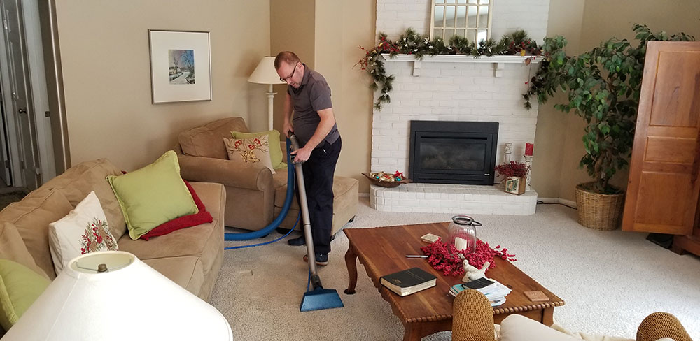 Clifford Cleaning A Living Room